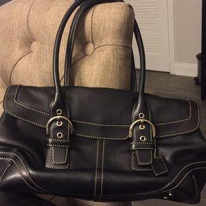 Authentic Black Coach Leather Bag